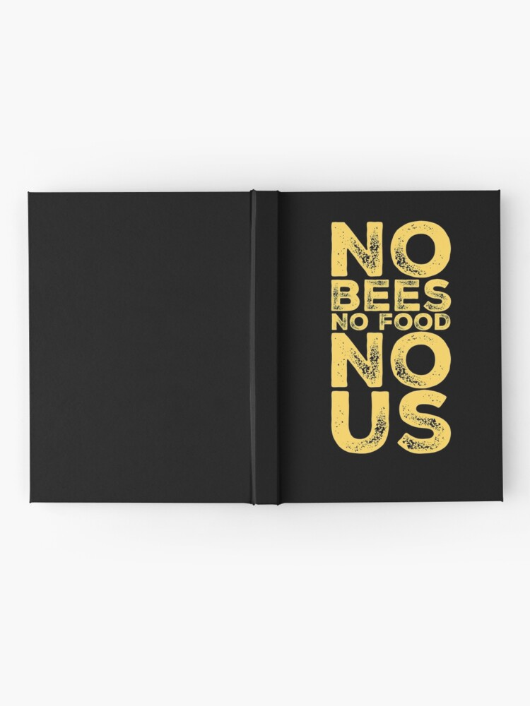 Alternate view of Bee Lovers Gift - No Bees No Food No Us - Environmental - Earth Day Hardcover Journal