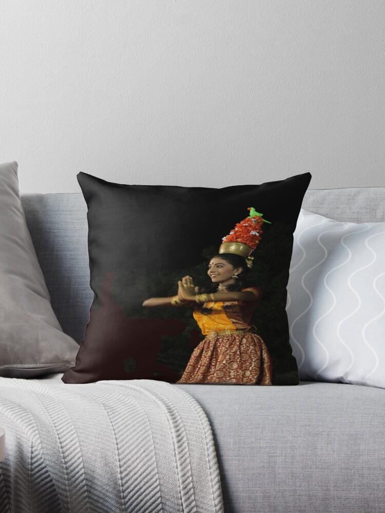 karagam a popular folk dance in india by siju doniston - Popular Throw Pillows