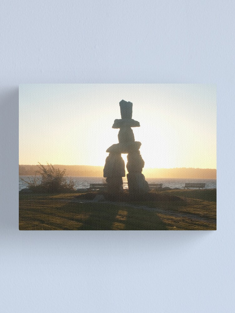 Alternate view of The lonely marker, Vancouver, Canada, 2007 Canvas Print