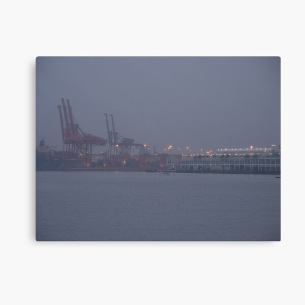 Coming to work in the fog, Vancouver, Canada, 2007 Canvas Print