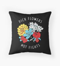 Flower Shirt Throw Pillow