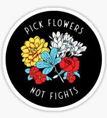Blumen Glänzender Sticker
