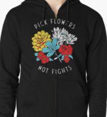 Sudadera con capucha y cremallera Las flores