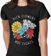 Chemise de fleurs T-shirt moulant femme