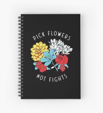 Blumen-Shirt Spiralblock