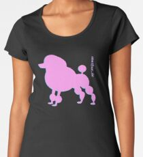 Poodle - Pudel - ... in pink Women's Premium T-Shirt