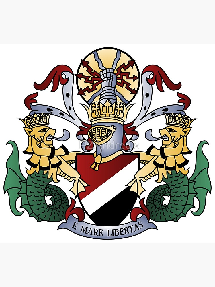 Coat of Arms of the Principality of Sealand by PZAndrews