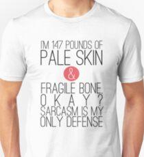 Camiseta unisex Lobo adolescente: sarcasmo