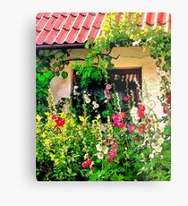 Cottage Window (Rosengaarden) Metal Print