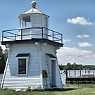 Old Port Clinton Pier Lighthouse by Monnie Ryan