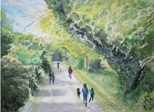 Lane in Ardgillan by Geraldine M Leahy