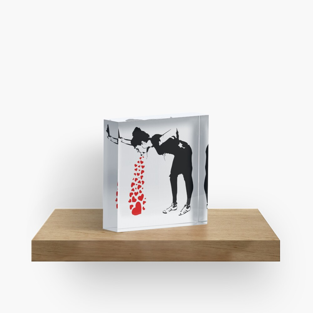 Lovesick - Banksy, Streetart Street Art, Grafitti, Artwork, Design For Men, Women, Kids Acrylic Block