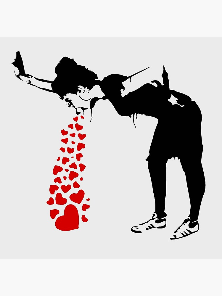 Lovesick - Banksy, Streetart Street Art, Grafitti, Artwork, Design For Men, Women, Kids by clothorama
