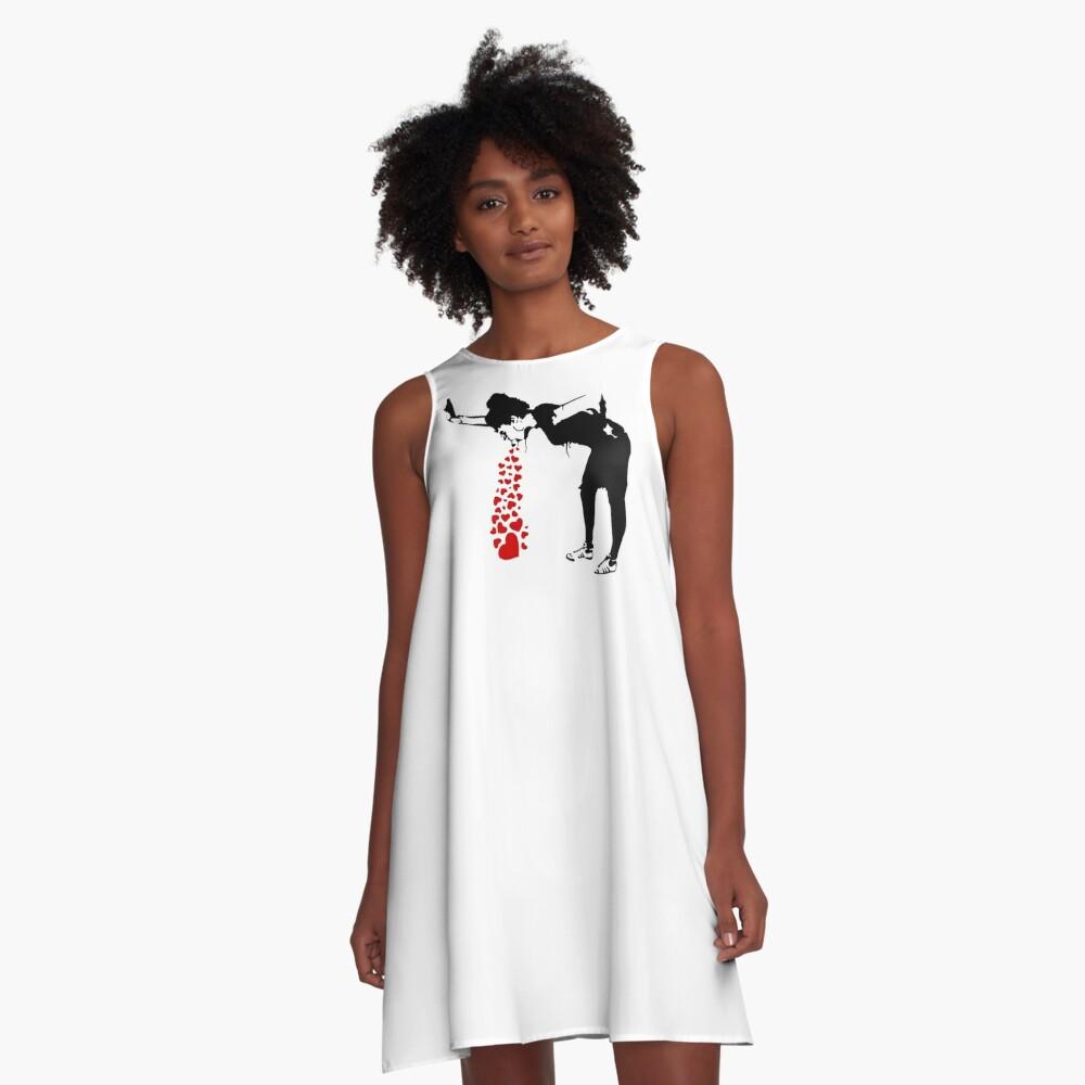 Lovesick - Banksy, Streetart Street Art, Grafitti, Artwork, Design For Men, Women, Kids A-Line Dress
