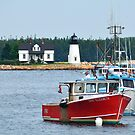 Lighthouse, Schondic Penninsula, Acadia National Park, Maine off the coast of Maine near Tenants Harbor by fauselr