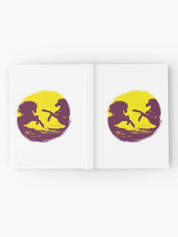 Alternate view of Horse riding sunset (colored) Hardcover Journal