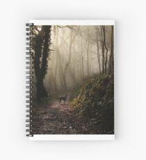 Lurcher in the mist Spiral Notebook