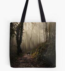 Lurcher in the mist Tote Bag