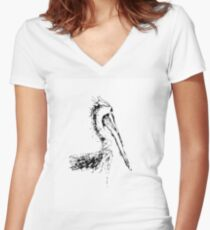 Pelican Tee Women's Fitted V-Neck T-Shirt
