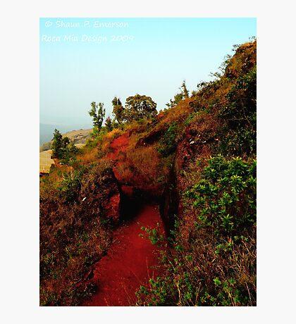 Carving a Path (Karnataka, India) Photographic Print