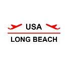 Long Beach USA Airport Plane Light-Color by TinyStarAmerica