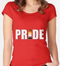BEAR PRIDE  Fitted Scoop T-Shirt