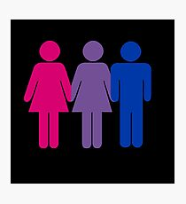 Bisexual Love Photographic Print