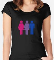 Bisexual Love Fitted Scoop T-Shirt