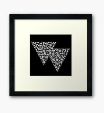 Bisexual Triangles Framed Art Print