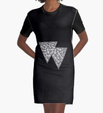 Bisexual Triangles Graphic T-Shirt Dress