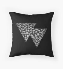 Bisexual Triangles Throw Pillow