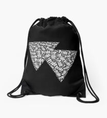 Bisexual Triangles Drawstring Bag