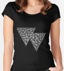 Bisexual Triangles Fitted Scoop T-Shirt