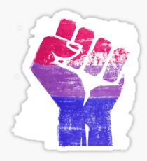 Bisexual Fist Pride Sticker