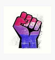 Bisexual Pride Resist Fist Art Print