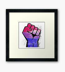 Bisexual Pride Resist Fist Framed Art Print