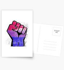 Bisexual Pride Resist Fist Postcards