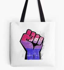 Bisexual Pride Resist Fist Tote Bag