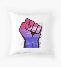 Bisexual Pride Resist Fist Throw Pillow