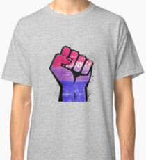 Bisexual Pride Resist Fist Classic T-Shirt