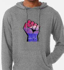 Bisexual Pride Resist Fist Lightweight Hoodie