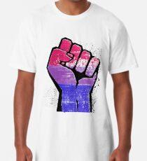 Bisexual Pride Resist Fist Long T-Shirt