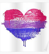 Bisexual Pride Heart Poster