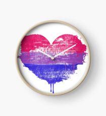 Bisexual Pride Heart Clock