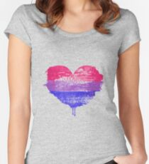 Bisexual Pride Heart Fitted Scoop T-Shirt