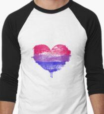 Bisexual Pride Heart Baseball ¾ Sleeve T-Shirt