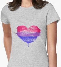 Bisexual Pride Heart Fitted T-Shirt