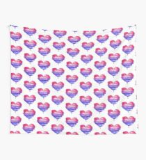 Bisexual Pride Heart Wall Tapestry