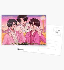 BTS JIN, JHOPE & JUNGKOOK - Junge mit luv 90's Anime Postkarten