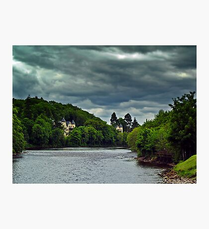 Cloudy Splender Over The River Ness,Scotland Photographic Print